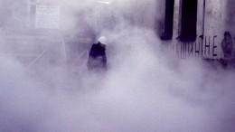 Настоящий «Сайлент Хилл»: Петербургский двор окутал туман из-за прорыва трубы