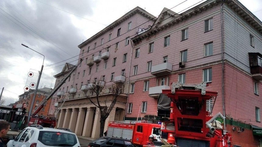 Жилой дом загорелся вКрасноярске