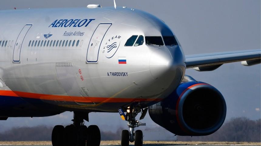 «Аэрофлот» прокомментировал гибель годовалой девочки наборту Airbus 330
