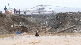 Видео спасательной операции наместе прорыва дамбы под Красноярском