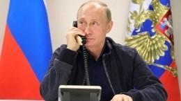 Путин вбеседе сМеркель подчеркнул важность территориальной целостности Сирии