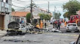 Видео: вБразилии разбился легкомоторный самолет