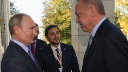 Путин иЭрдоган обсудили военные действия Турции вСирии
