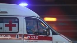 Иномарка наполной скорости сбила двух человек напешеходном переходе вПетербурге