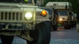 Колонна американских военных вернулась вСирию изИрака