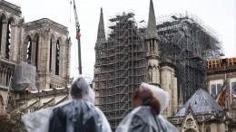 Власти Парижа вернули ночную подсветку собору Нотр-Дам деПари