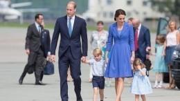 Кейт Миддлтон непошла насветский прием из-за болезни детей