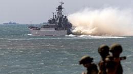 Морская военная полиция продемонстрировала боевые навыки вКрыму