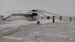 Фото сместа жесткой посадки вертолета Ми-8 под Новым Уренгоем