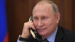 Поинициативе Украины состоялся телефонный разговор Путина сЗеленским