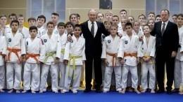 Путин вклубе дзюдо «Турбостроитель» вПетербурге вручил госнаграды