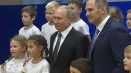 Путин посетил петербургский клуб дзюдо, где занимался вюности