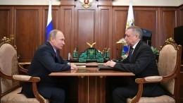 Путин иБеглов обсудили планы развития Петербурга