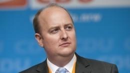 Видео: удепутата партии Меркель случился приступ вовремя выступления