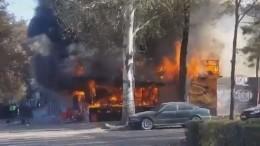 Один человек погиб врезультате взрыва вцентре Бишкека