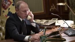 Путин иЭрдоган обсудили потелефону ситуацию вСирии