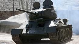Легендарный танк Т-34 прошел первые испытания вБурятии после реставрации