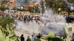 Семь человек погибли входе ожесточенных беспорядков вБоливии