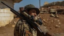 Кадры совзятого под контроль российскими военными аэродрома вСирии