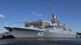 Фрегат «Адмирал Касатонов» поразил наземную цель ракетой «Калибр»