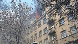 Хлопок газа вызвал пожар вжилом доме вцентре Санкт-Петербурга