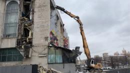 Московский кинотеатр «Соловей» начали сносить