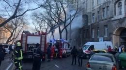 Площадь пожара вколледже вОдессе увеличилась додвух тысяч метров