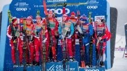 Российские лыжники взяли золото исеребро наэтапе Кубка мира вНорвегии