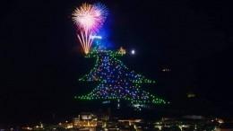 Завораживающее зрелище: ВИталии зажгли самую большую елку вмире