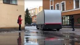 Без руля иводителя: беспилотный грузовик прокатился поПетербургу