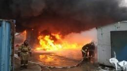 Очевидцы сняли шокирующие кадры крупного пожара вЕкатеринбурге