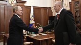 Владимир Путин поздравил Жириновского сгрядущим юбилеем ЛДПР