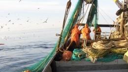 Рыболовецкий траулер с10 иностранцами наборту задержан наСахалине