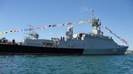 Передвижение эсминца США вЧерном море контролирует малый ракетный корабль «Вышний Волочек»