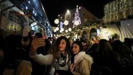 Рождественские огни зажглись вИерусалиме