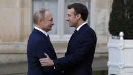 Путин иМакрон потелефону обсудили итоги «нормандского формата»