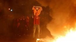 Встречу «Барселоны» и«Реала» вИспании превратили вполитическую акцию протеста
