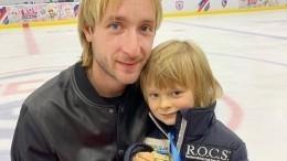 Сын Евгения Плющенко выглядит чемпионом даже натренировке