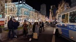 Эвакуированы посетители рождественского рынка вБерлине