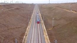 Первый прямой пассажирский поезд изСанкт-Петербурга направляется вКрым