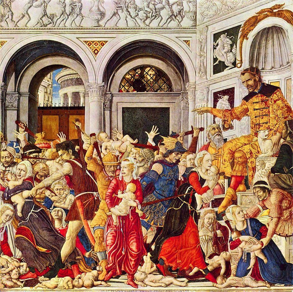 «Избиение младенцев». Маттео ди Джованни, 1488. Музей Каподимонте