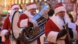 Парад тысячи Дедов морозов прошел вцентре Кемерово