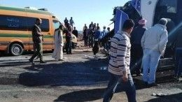 Туристический автобус столкнулся сгрузовиком вЕгипете, есть жертвы