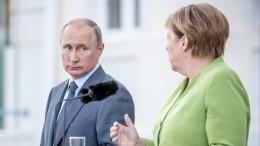 Путин иМеркель подтвердили настрой наподдержку «Северного потока— 2»