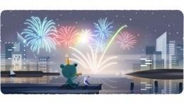 Google опубликовал праздничный Doodle впреддверии Нового года