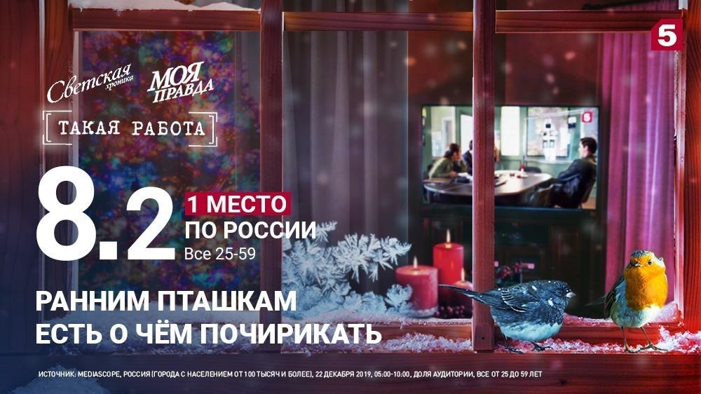Утро россиян начинается наПятом!