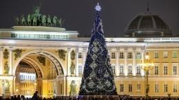 «Ведите себя хорошо»: руферы смакушки елки наДворцовой поздравили Петербург сНовым годом