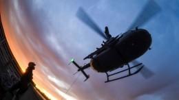 После вынужденной посадки вертолета Минобороны Тайваня найдены живыми десять человек