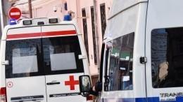Момент ДТП: Иномарка вылетела натротуар навостоке Петербурга