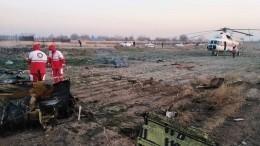 Первое видео сместа крушения украинского Boeing-737 вИране